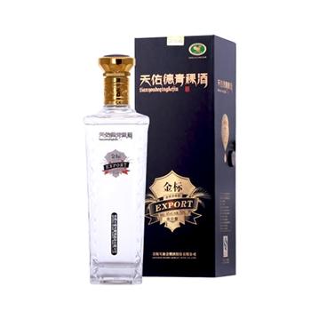 46度天佑德青稞酒金标出口型750ml