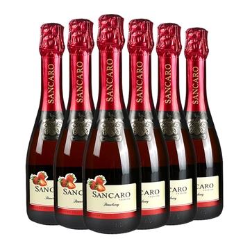 3.8° 圣卡罗碱性天然水果发酵起泡酒(草莓味)375ml (六瓶