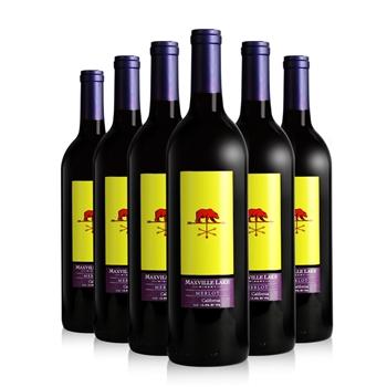 马克斯威酒庄特选加州美乐干红葡萄酒750ml*6瓶装