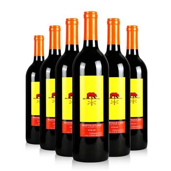 马克斯威酒庄特选加州西拉干红葡萄酒 750ml*6瓶装
