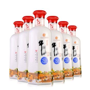 58°百年牛栏山清香白酒(瓷瓶) 500ml(6瓶装)