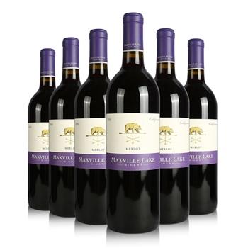 马克斯威酒庄-阳光加州美乐干红葡萄酒 (六支装) 750ml